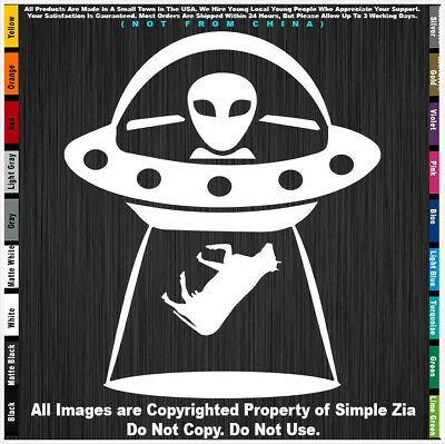 UFO Alien Zia NM Spaceship Sasquatch Big Foot Roswell New Mexico flag sticker 51