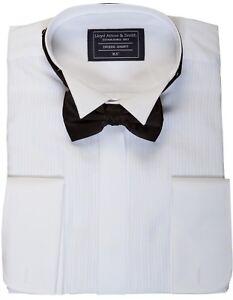 Fluegel-Kragen-Hemd-und-Fliege-Abendkleid
