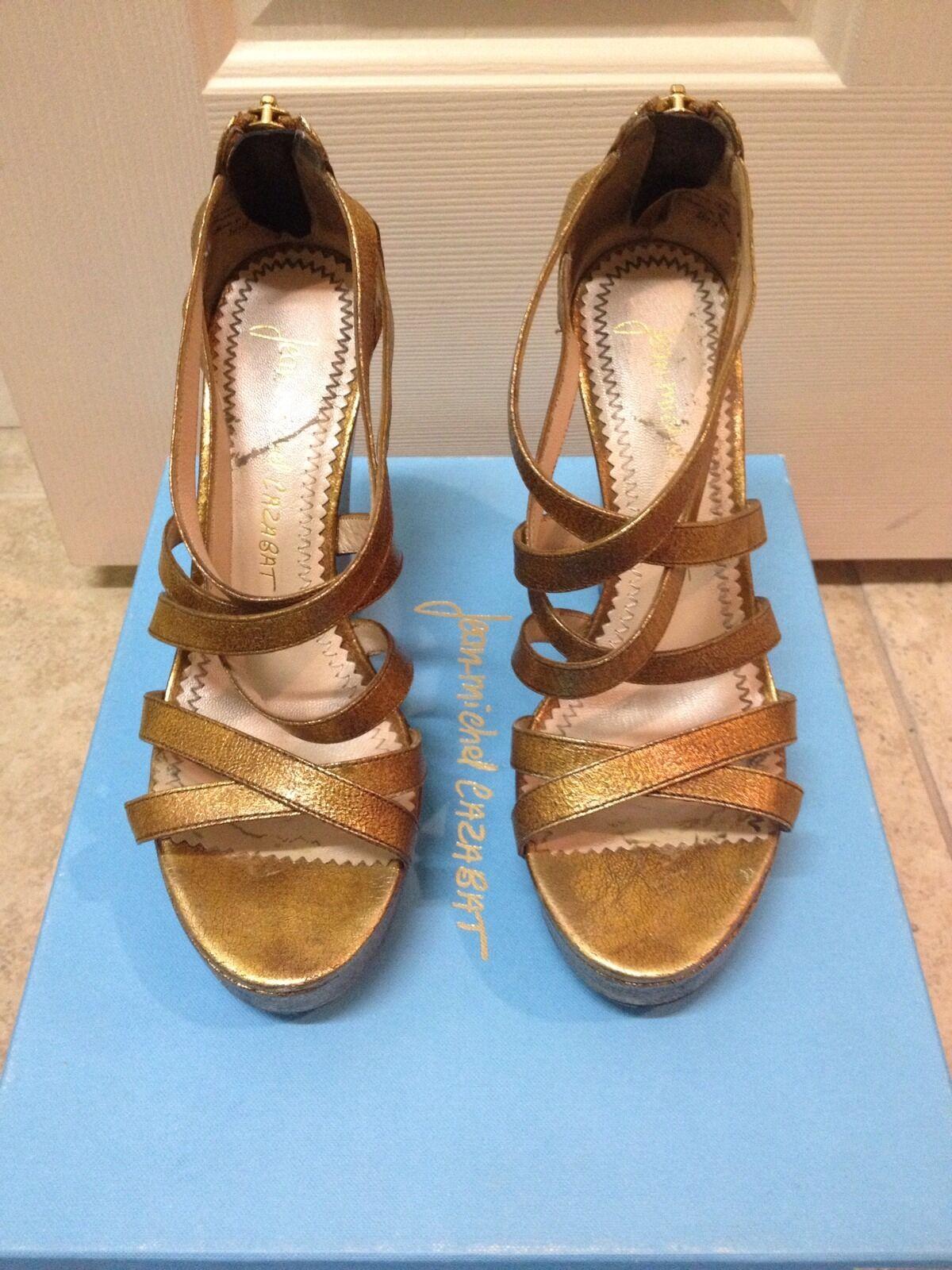 Jean -Michel Cazabat Willow Wedges Storlek 36.5 Neiman Marcus  395 Platform Sandals