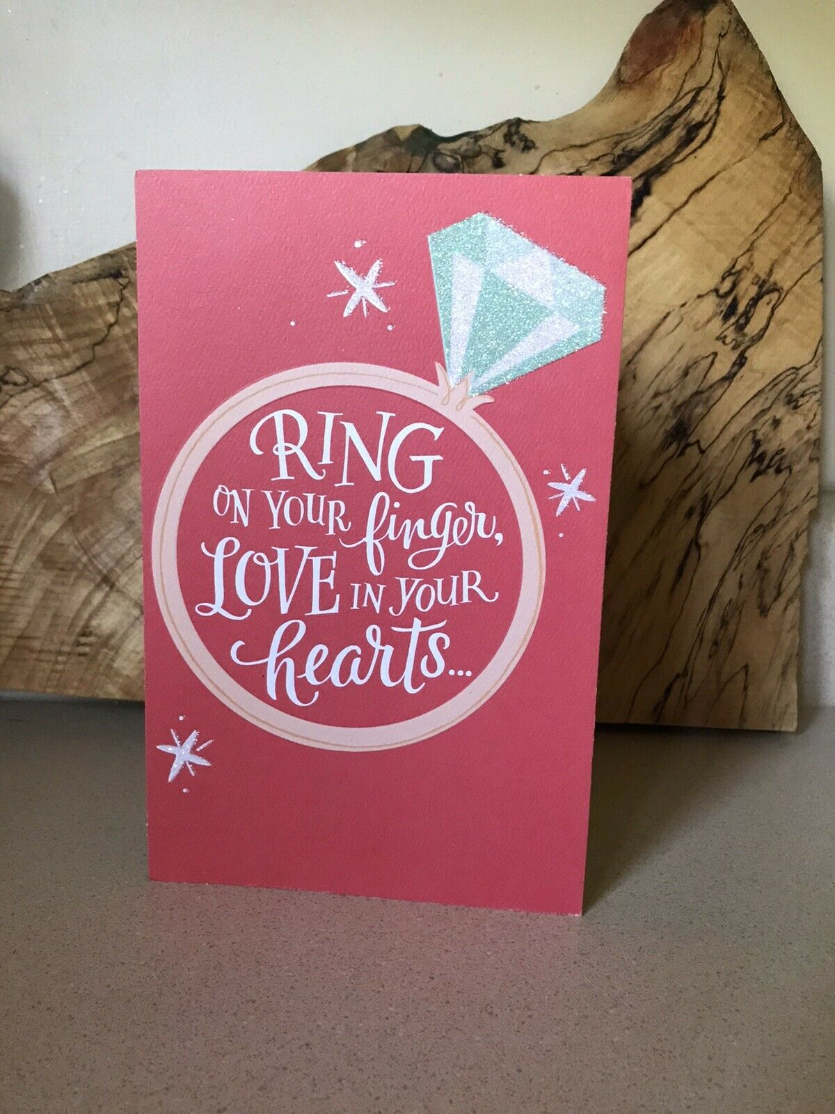 Congratulations on Your Engagement Couple Ring & Hearts Design Engagement  Card for sale online | eBay