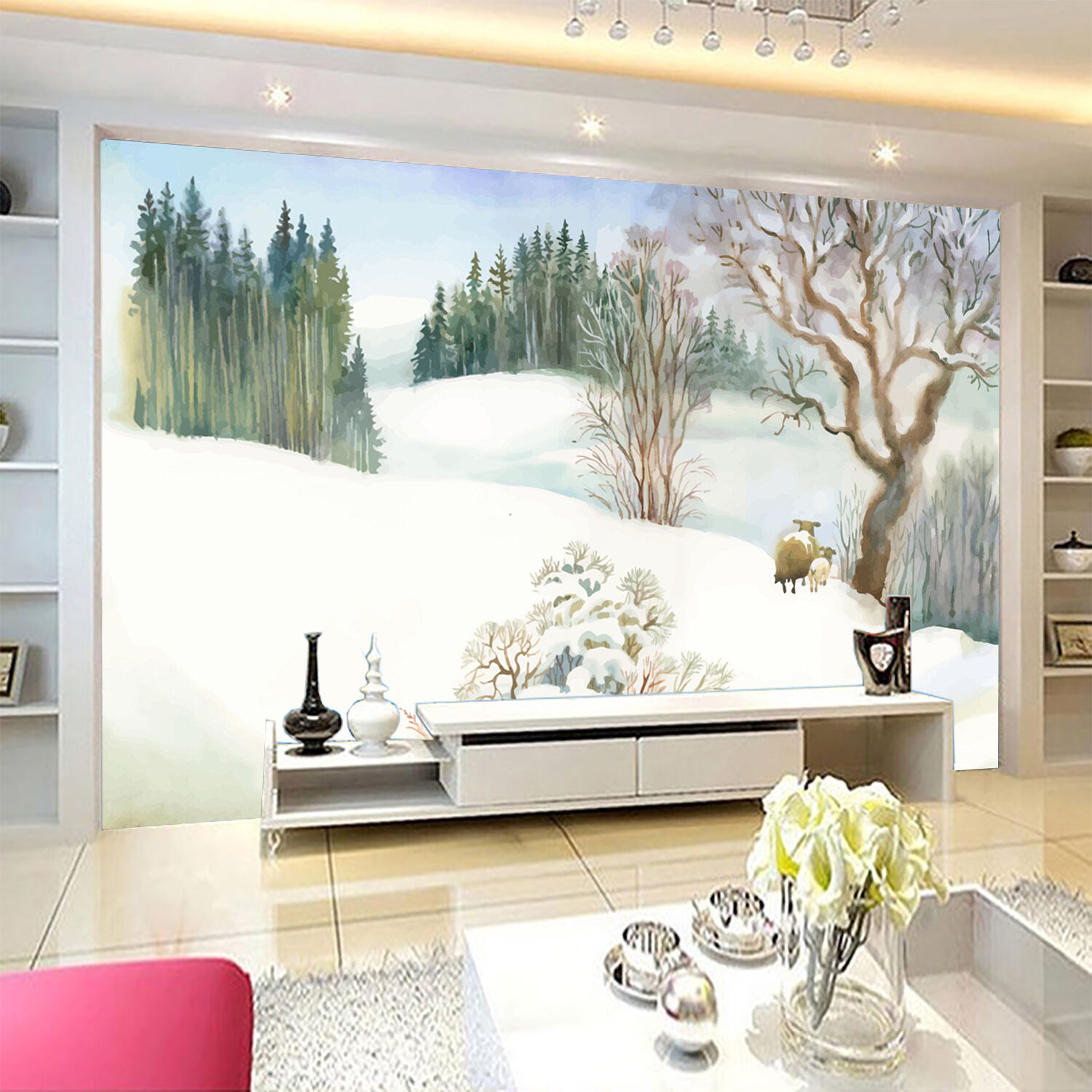 3D painting forest pigment Wall Paper Print Decal Wall Deco Indoor wall Mural