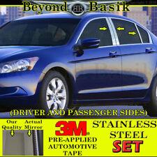 1998-2002 Honda Accord 4Dr Sedan 6Pc Chrome Stainless Steel Pillar Post Trim