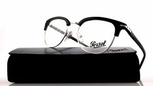 789637cd2461d Image is loading RARE-NEW-Authentic-PERSOL-Black-Silver-Club-Master-