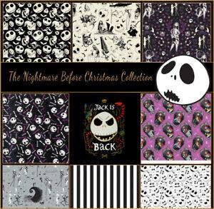 Nightmare Before Christmas 100 Cotton Fabric Fat 1 4 1 2 Metre Metre Ebay