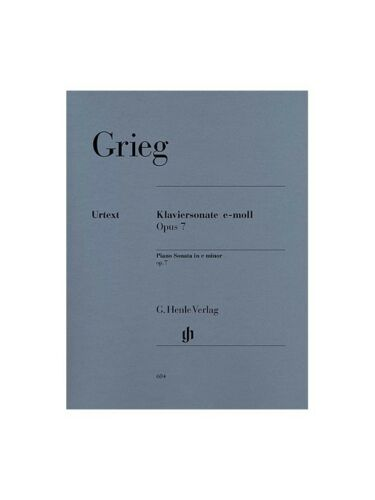 Edvard Grieg Sonata In E Minor Op7 Urtext Edition Piano Solo SHEET MUSIC BOOK
