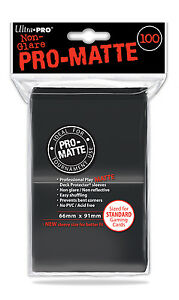 100-Ultra-Pro-BLACK-PRO-MATTE-DECK-PROTECTORS-SLEEVES-Standard-Pokemon-Magic-MTG
