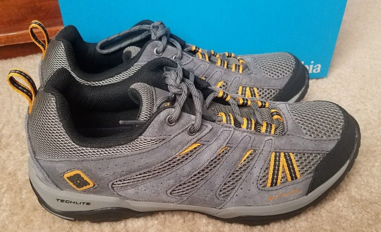 New Columbia Mens North Plains Drifter Hiking Trail shoes Charcoal  Sz 8