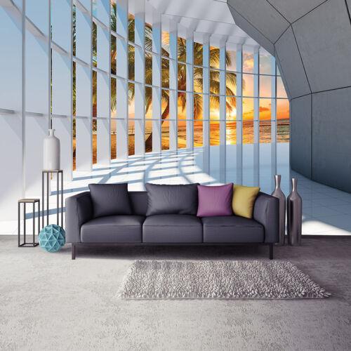 Türtapete auto-adhésif türfolie türposter Tunnel Türaufkleber papier peint escalier