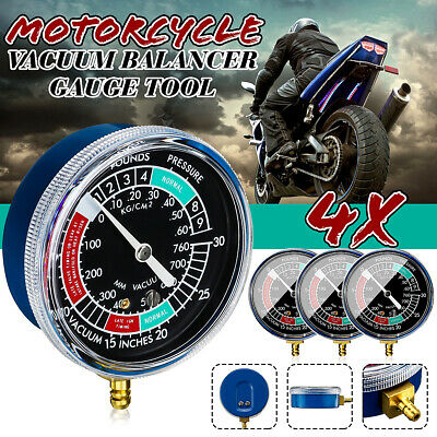 Motorcycle Car Engine Universal Gauge 4 Carb Carburetor Synchronize Set kit