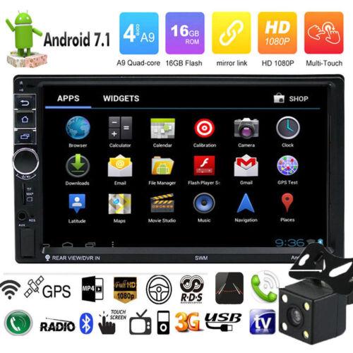 "7/""2DIN HD 1080P Quad Core Android 7.1 WIFI Car FM Radio Stereo MP5 Player+Camera"
