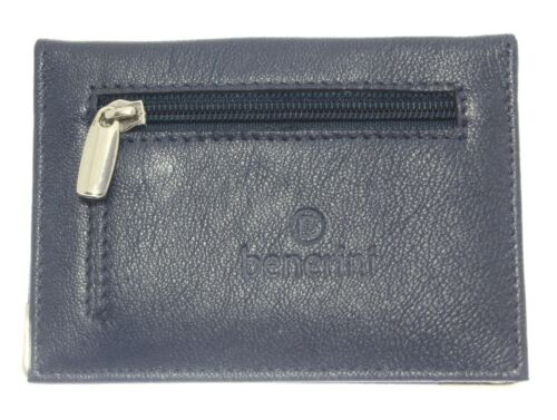 Soft Real Leather Bus Pass Travel Card Credit ID Oyster Holder Coin Purse Zipped