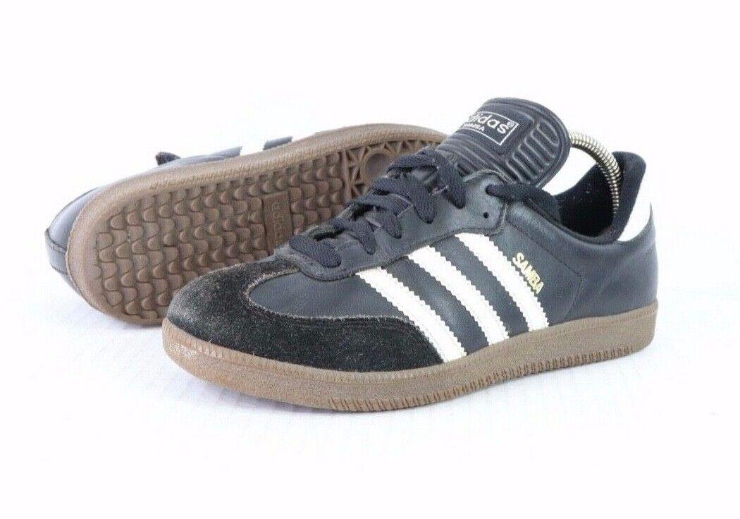Vintage 90s Adidas Samba Uomo Misura 6 pelle Camoscio Indoor Calcio Sautope Nero Sautope classeiche da uomo