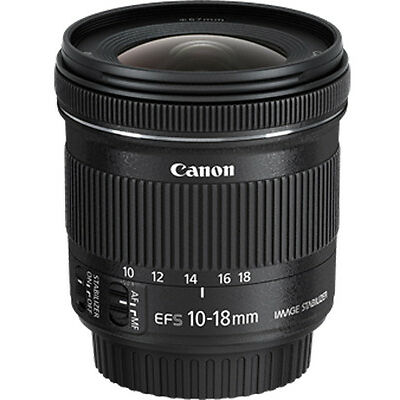 CANON EF-S 10-18mm f/4.5-5.6 IS STM (Black) With 2 Years Canon India Warranty
