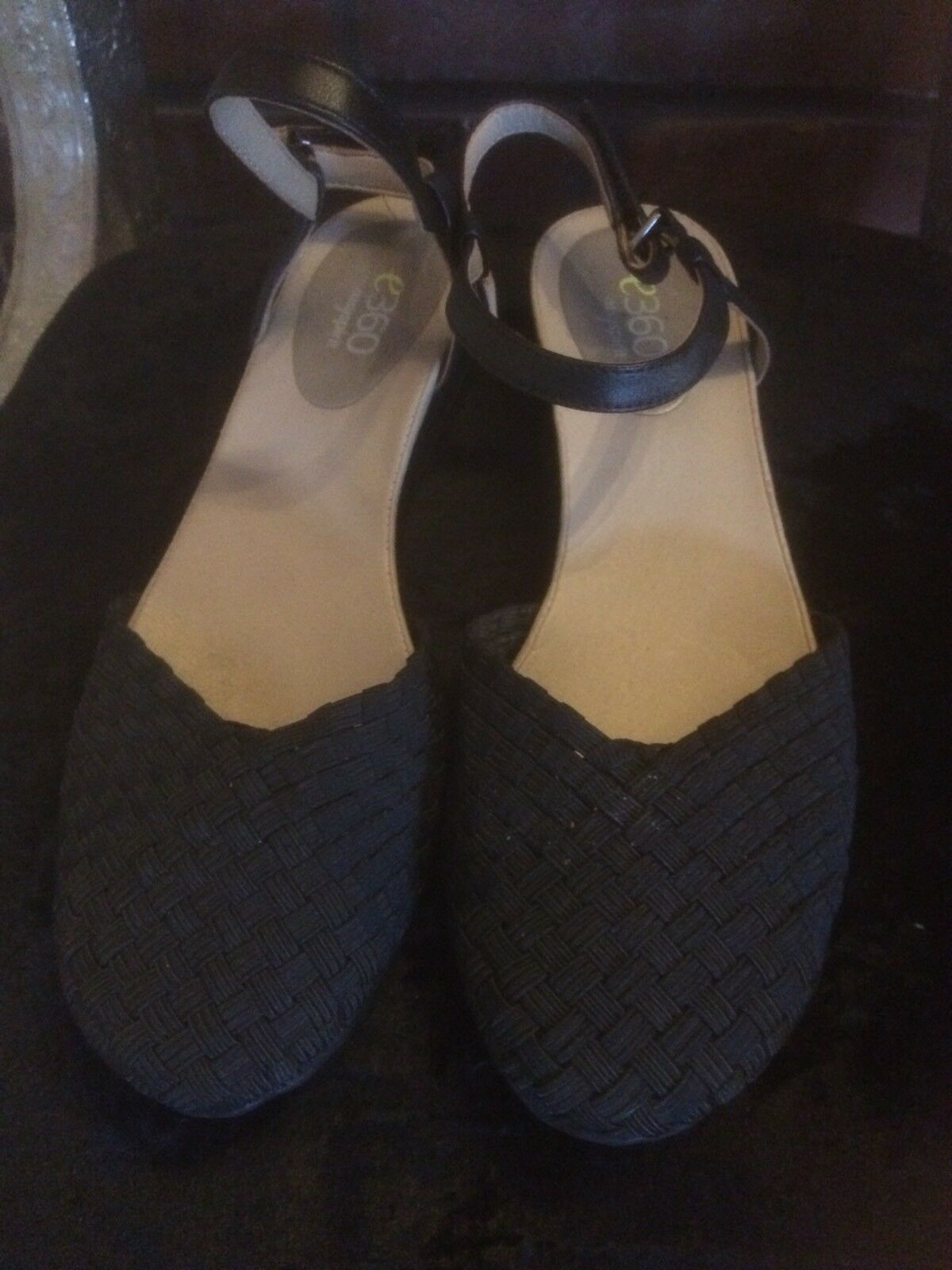 Easy Leather Spirit E360 Strappy Black Leather Easy Sandles. Size 6 36c070