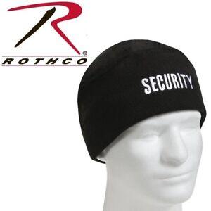 de412247fa2 Security Guard Officer Polar Fleece Winter Watch Cap Skull Cap Hat ...
