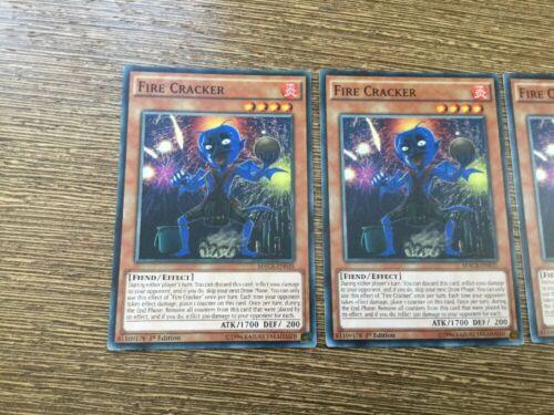 Yu-Gi-Oh 3x Fire Cracker MACR-EN035