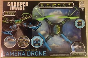 New Unopened Sharper Image Rechargeable Remote Control Camera Drone