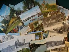 LOT OF 50 ANTIQUE  VINTAGE POSTCARDS 1900s -1970s *** STAMPED CARDS INCLUDED