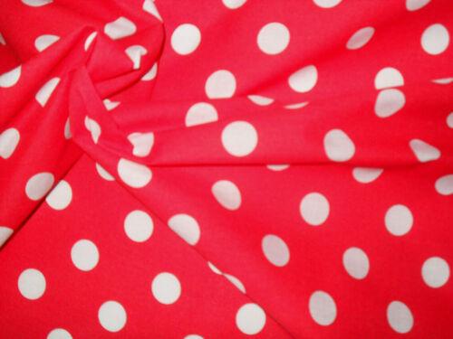 Material de la tela de algodón Poly Rojo Manchado Manualidades Quilting coser 1M
