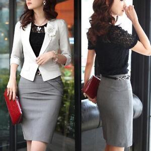 4564677f389707 Women's Elegant Slim Pencil Short Skirt Lady Wrap Bodycon Work ...