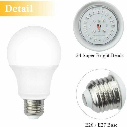 AFSEMOS 12W UV LED Black Light Bulbs,UVA Level 380-420nm E26 E27 Medium Base,UV