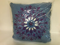 Echo Jakarta Square Pillow, 18 By 18-inch, Blue
