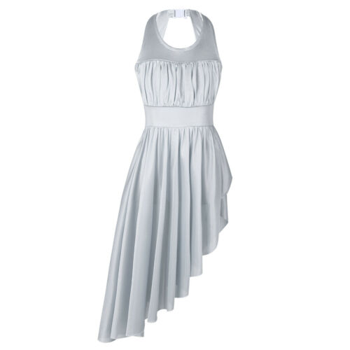 Ladies Women High Low Hem Ballet Leotard Dancewear Gymnastics Maxi Dress Skirts