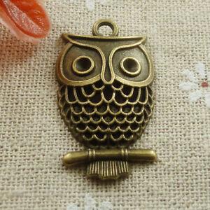 Owl Charms Owl Pendants Silver Owl Charms Bird Charms Halloween Charms Halloween Owl Charms Antiqued Silver Charms 10pcs