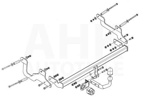 Dacia Lodgy ab 12 Anhängerkupplung starr+E-Satz 13p spez