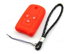 Red Silicone Case Cover For Honda Accord CR-V Civic Odyssey Remote Flip Key 3B