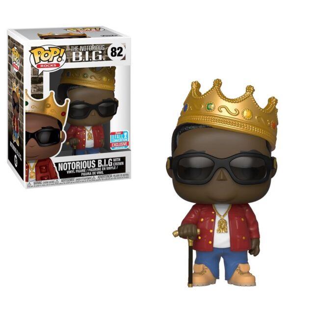 Funko Pop Vinyl Biggie Smalls With Crown Notorious BIG #82 NYCC Exclusive 2018