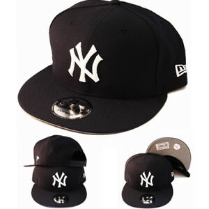 bc0b40ae33f New Era New York Yankees 950 Snapback Hat Navy White Logo Basic Cap ...