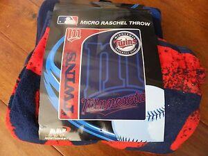 "Minnesota Twins Baseball Club Micro Fleece Blanket Throw Bedspread 50""x60"" Boys"