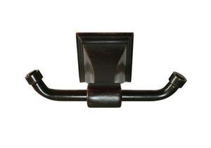 Dark Oil Rubbed Bronze Bathroom Accessories Hardware Double Robe Hook Accessory