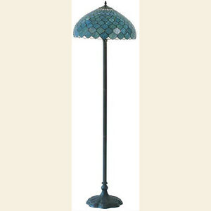Blue fishscale tiffany style floor lamp lead light will ship image is loading blue fishscale tiffany style floor lamp lead light aloadofball Gallery