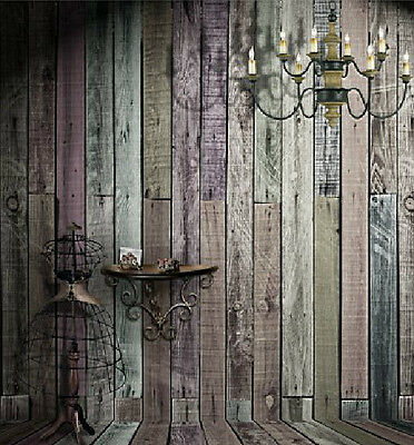Retro Wood Wall Candle Background Photography Backdrop Studio Props 5X7ft Vinyl