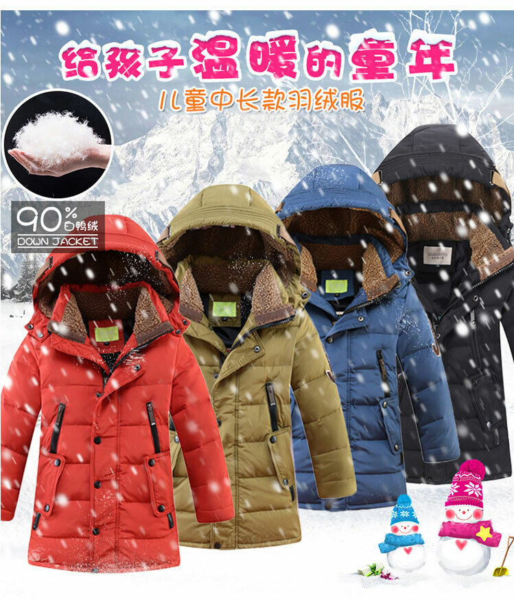 Kids Jackets Winter Parka Boys Warm Thick Outwear Coat Snowsuit Quilted Overcoat