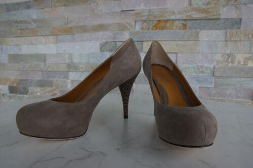 Gr Berenjena Plataforma Bombas De Zapatos Dedos Fendi Los Abiertos 38 Original A5RqFCw