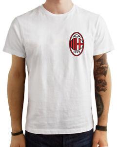 T-Shirt-Maglietta-Milan-Scudetto-Maglia-calcio-logo-sport-personalizzabile