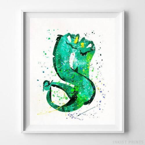 Flotsam and Jetsam The Little Mermaid Wall Art Disney Watercolor Poster UNFRAMED