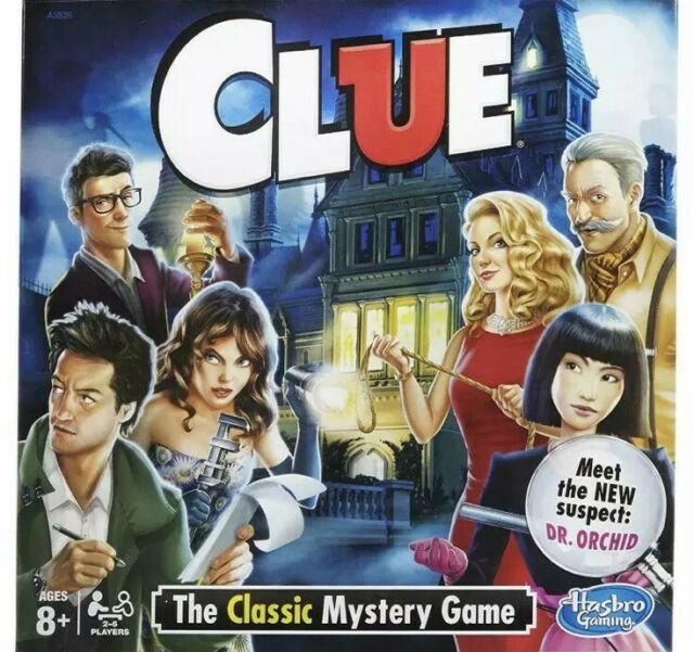 Hasbro Clue game The Classic Mystery Game - A5826079 Please Read Description