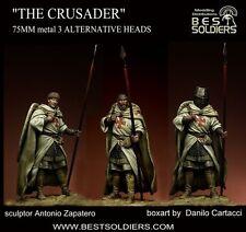 Best Soldiers Crusader Knight 3 heads 75mm Model Unpainted Metal Kit