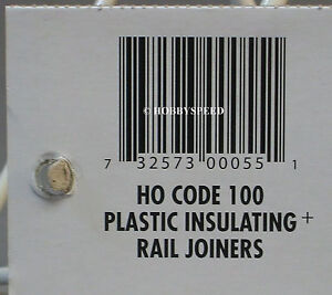 ATLAS HO CODE 100 PLASTIC INSULATING TRACK RAIL JOINERS train connection 55 NEW