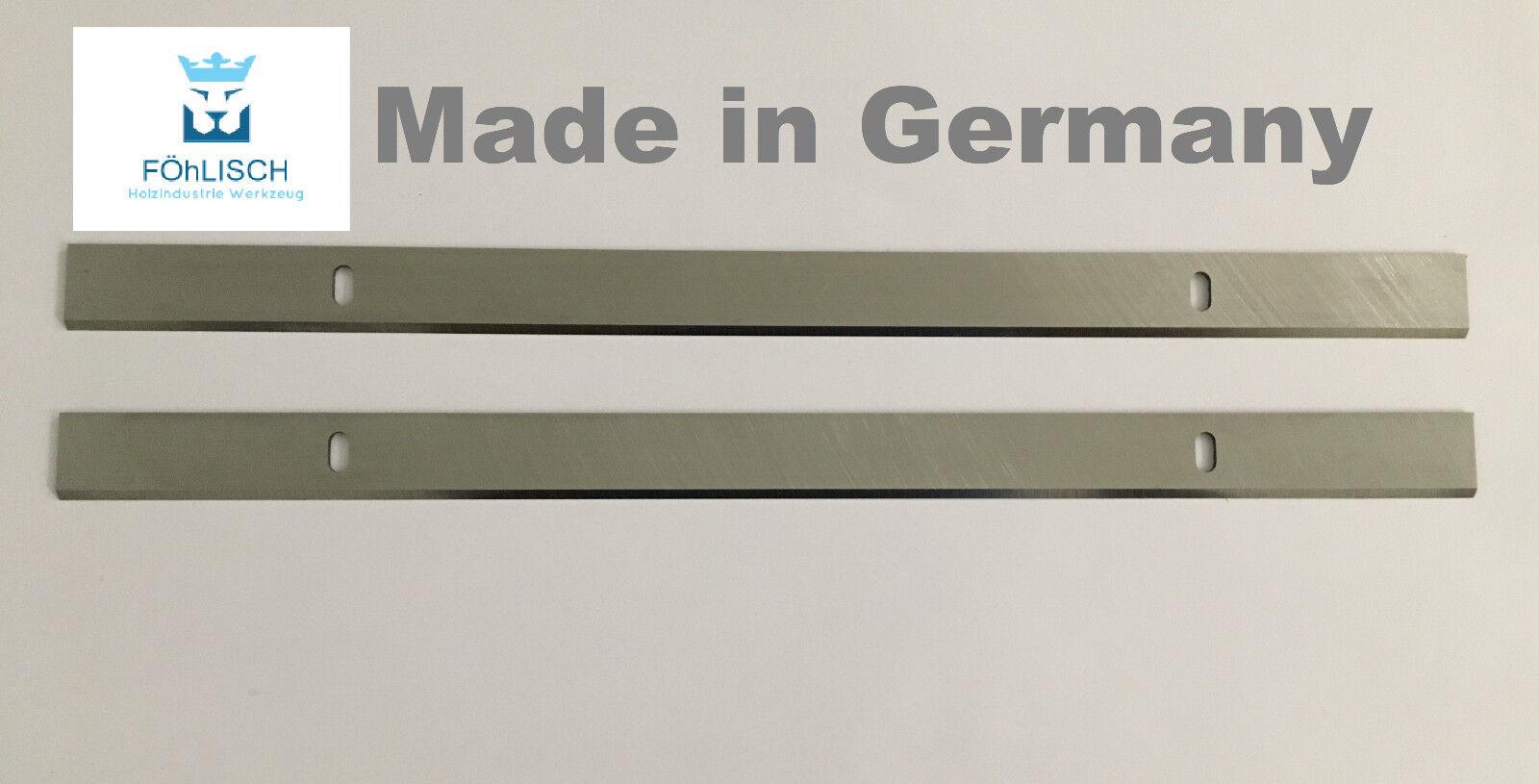 1 Paar 260 x 20 x 3 mm HSS Hobel Dickenhobel Sägeblätter 260203