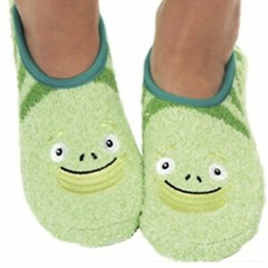 a043fa6b083 Women Green FROG Comfy Indoor Home Fuzzy Skid Resistant Slippers ...