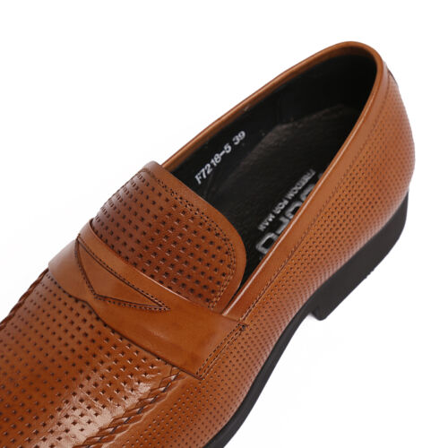 New Men/'s Shoes Genuine Cow Leather Loafers Slip-On Classic Business Casual 5-11