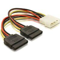 Molex to 2 x SATA Power Dual Power Adapter Y Splitter convert Pc Power to  S-ata