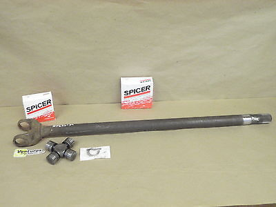 OUTER AXLE YOKE SHAFT WITH NEW U JOINT CHEVY GM K30 K35 ONE TON DANA 60 FRONT