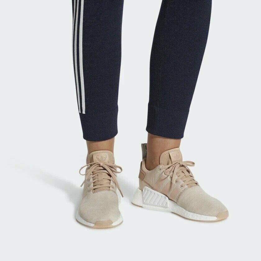 Women adidas NMD R2 shoes - Ash Pearl Crystal White - AQ0197