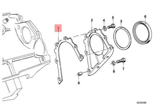 Genuine OEM BMW E36 E46 E39 E38 E60 Crank Seal Gasket Cover Rear 11141432240